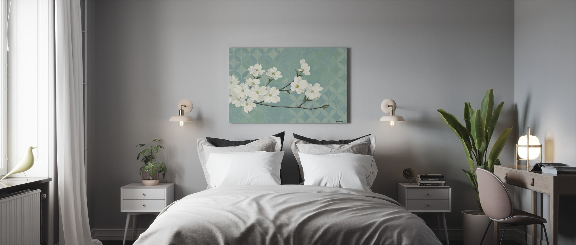Dogwood Blossoms - Canvas print - Bedroom