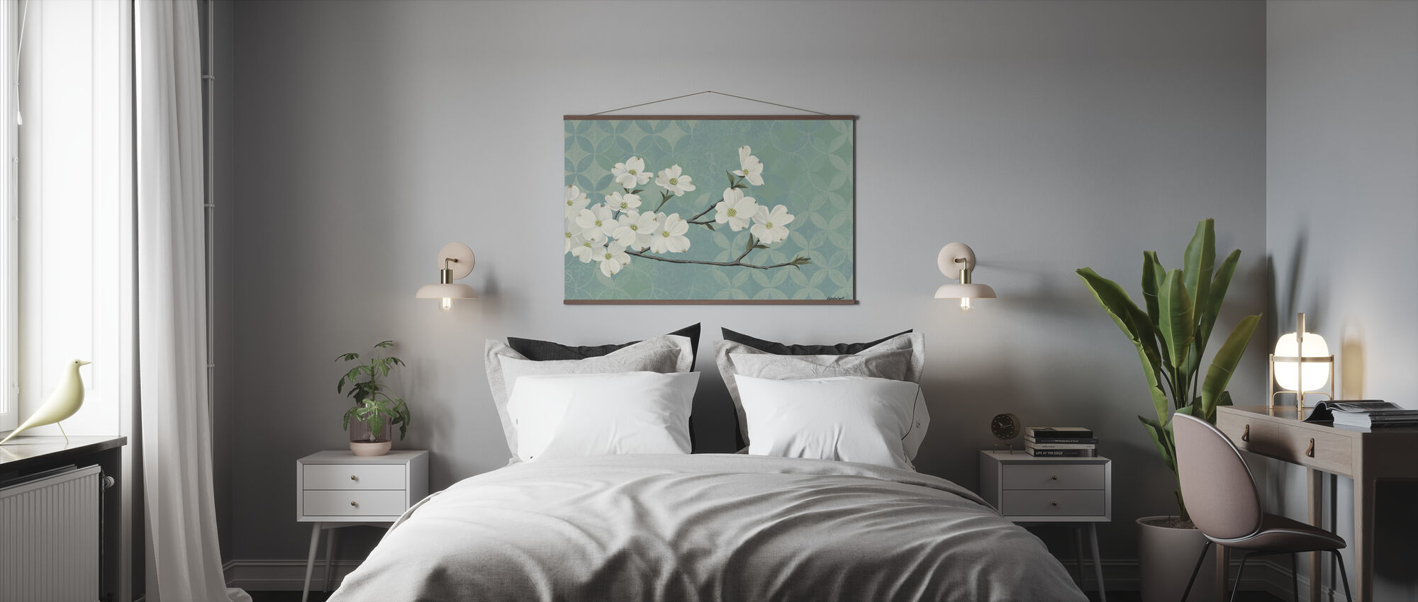 Dogwood Blossoms - Poster - Bedroom