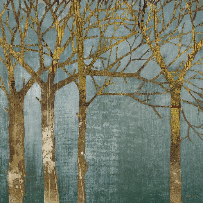 BEAUTIFUL AUTUMN WATERFALL ORANGE NATURE BOX CANVAS PRINT WALL ART PICTURE