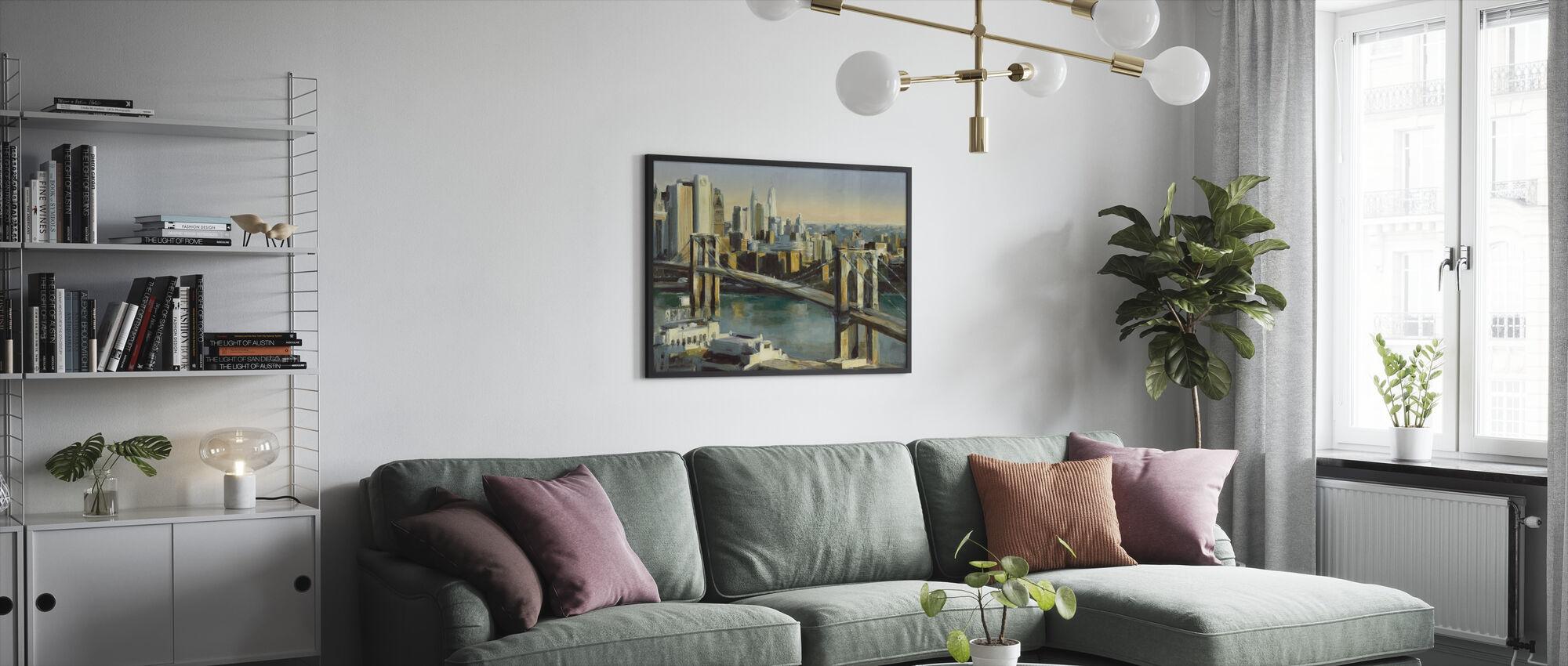 Into Manhattan - Framed print - Living Room