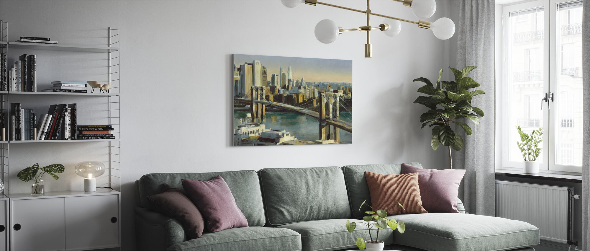 Into Manhattan - Canvas print - Living Room