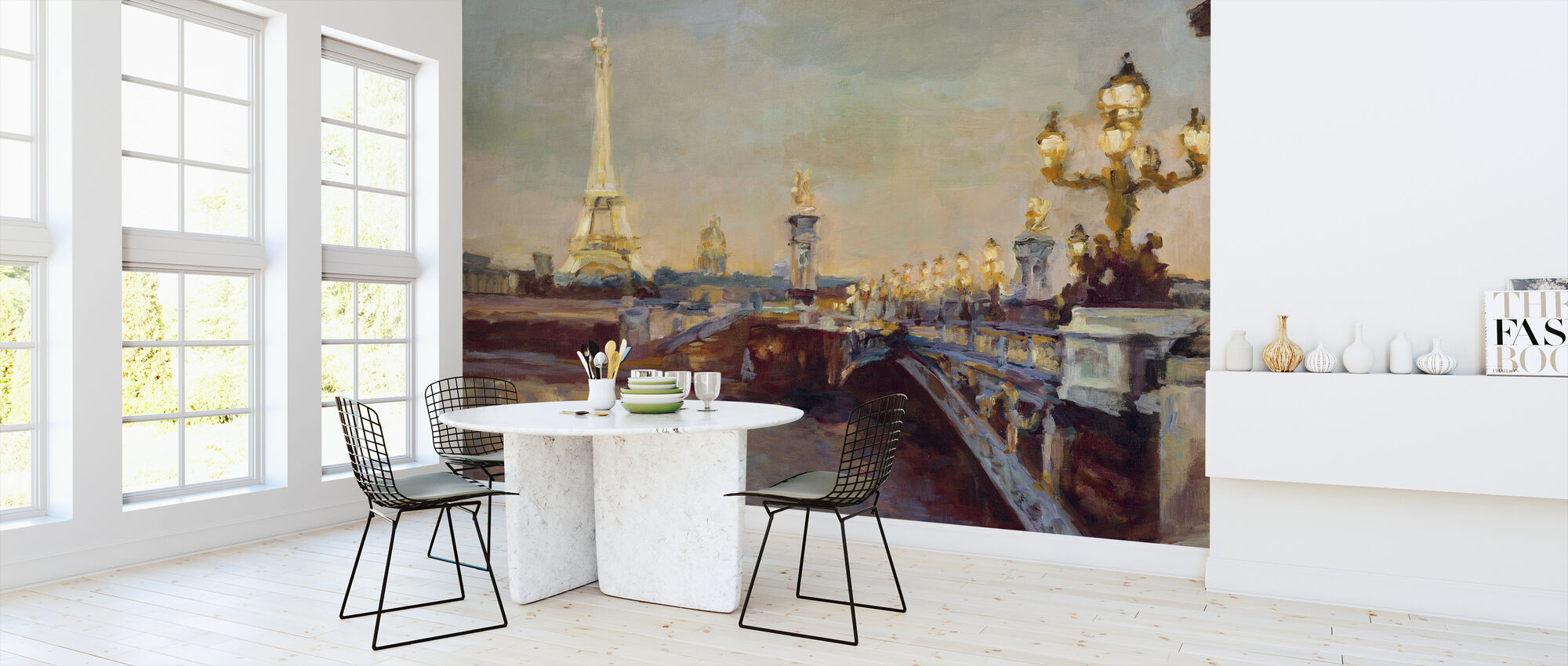 Parisian Evening - Wallpaper - Kitchen