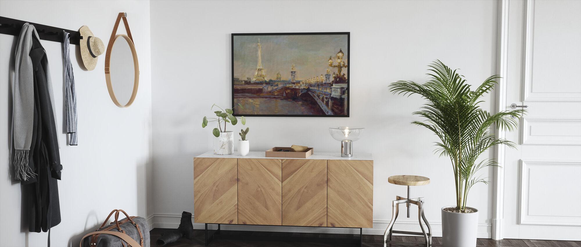 Parisian Evening - Framed print - Hallway