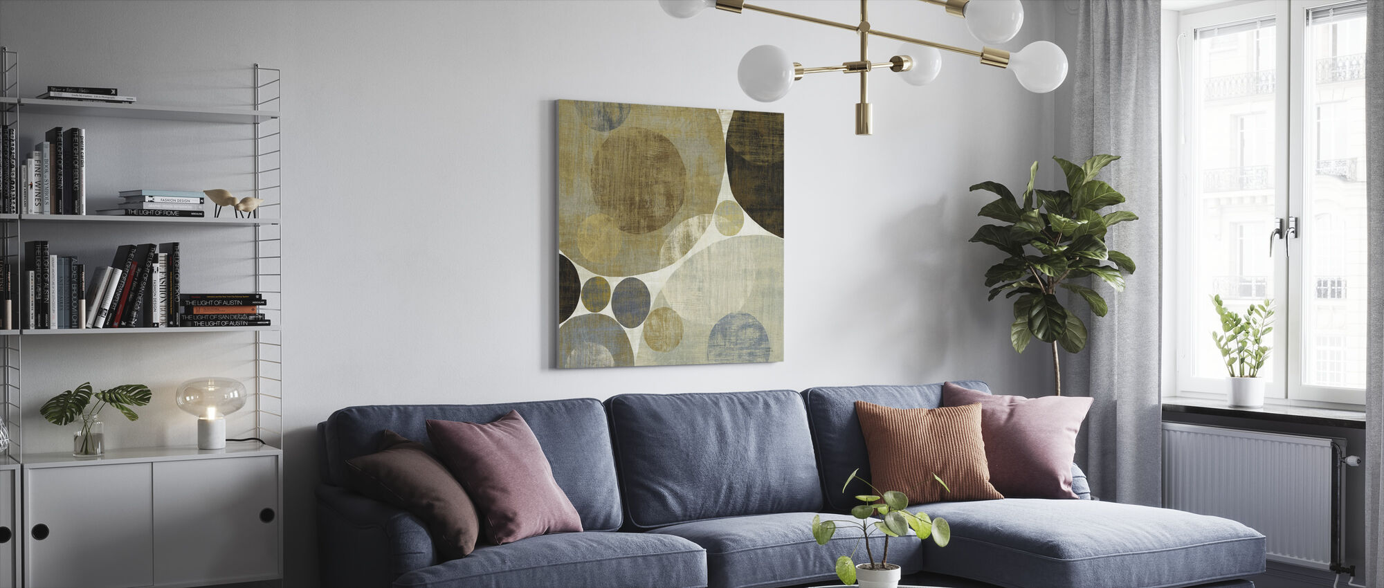 Circulation I - Canvas print - Living Room