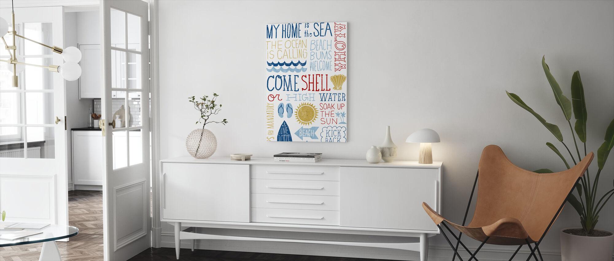 Plezier in de zon - Canvas print - Woonkamer