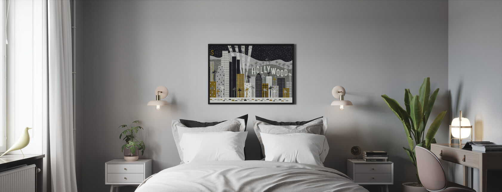 Hey Los Angeles - Framed print - Bedroom