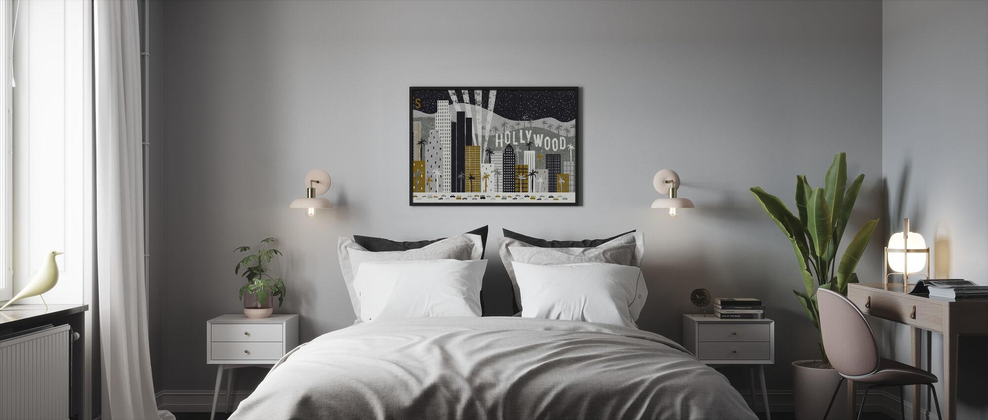 Hey Los Angeles - Framed print - Bedroom