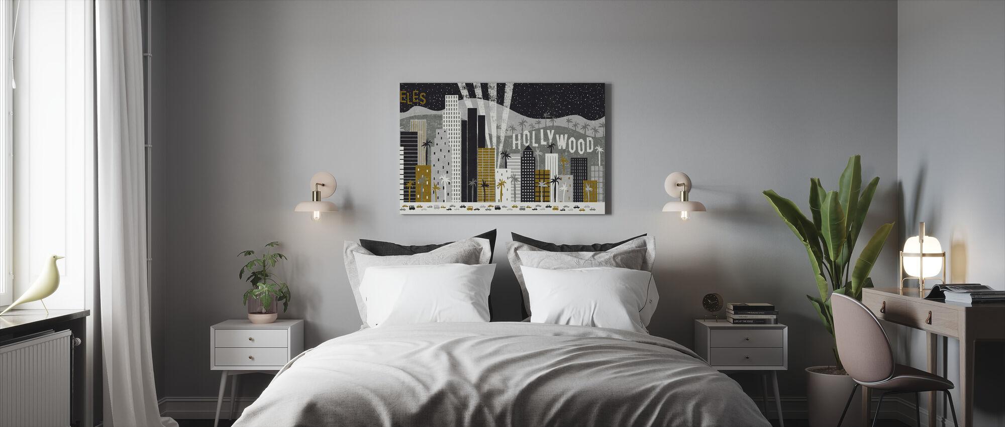 Hey Los Angeles - Canvas print - Bedroom