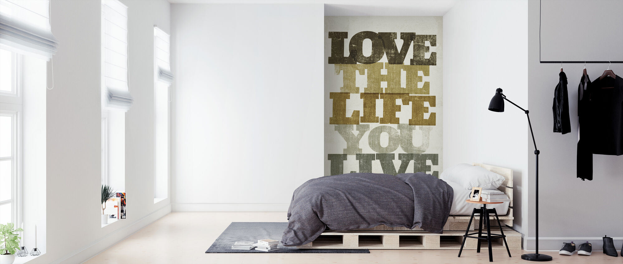 Live og kærlighed II - Tapet - Soveværelse