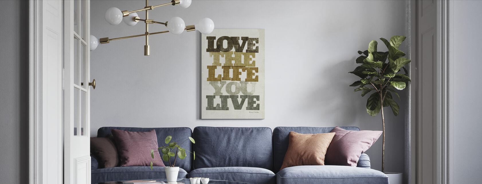 Elää ja rakkautta II - Canvastaulu - Olohuone