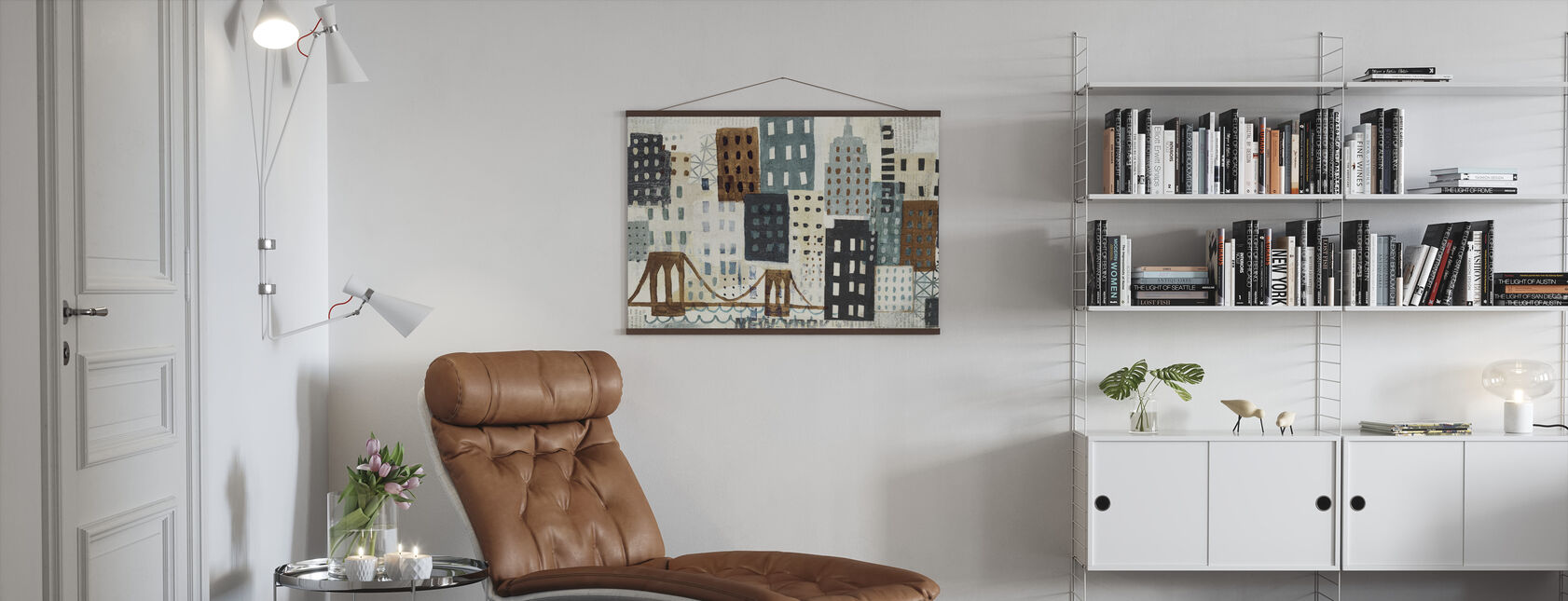 New York Skyline Collage - Grau II - Poster - Wohnzimmer