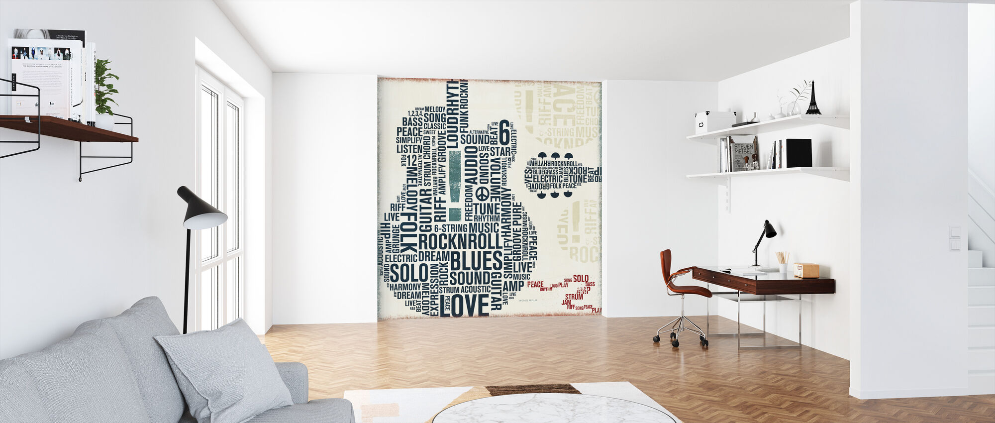 Type Guitar Square II - Wallpaper - Office