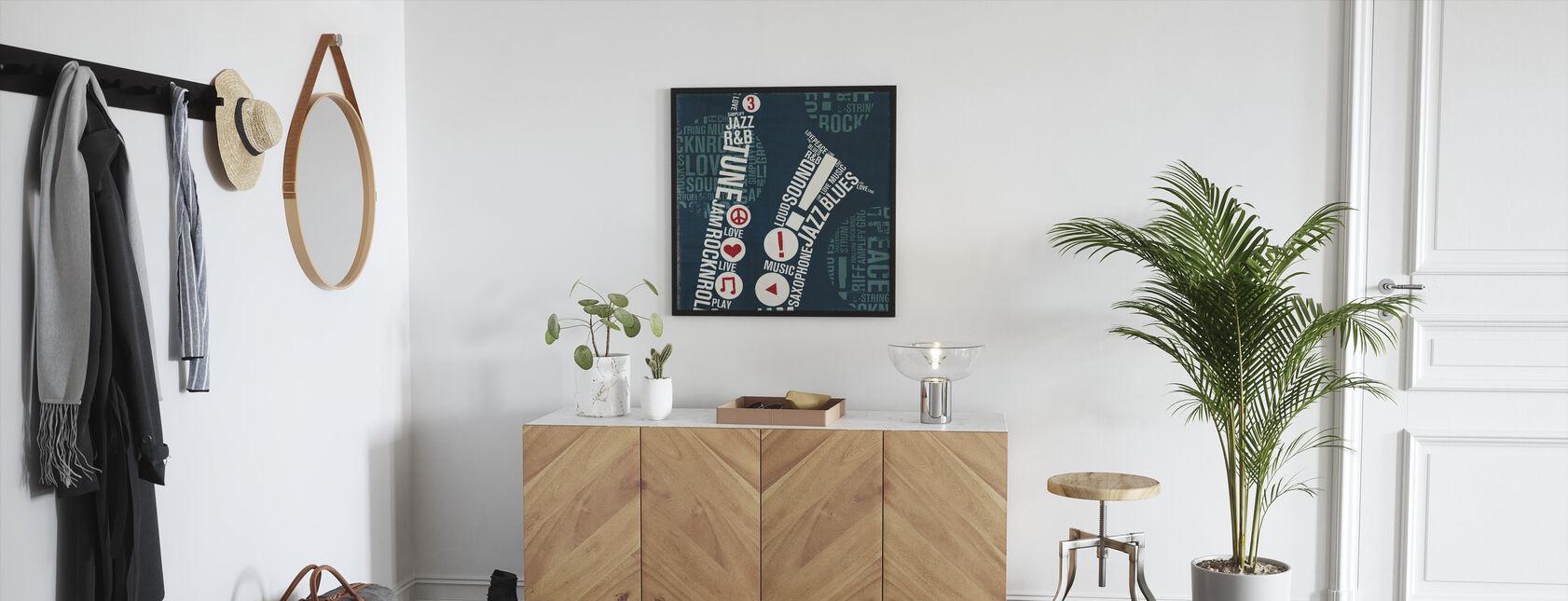 Type Sax Square - Framed print - Hallway