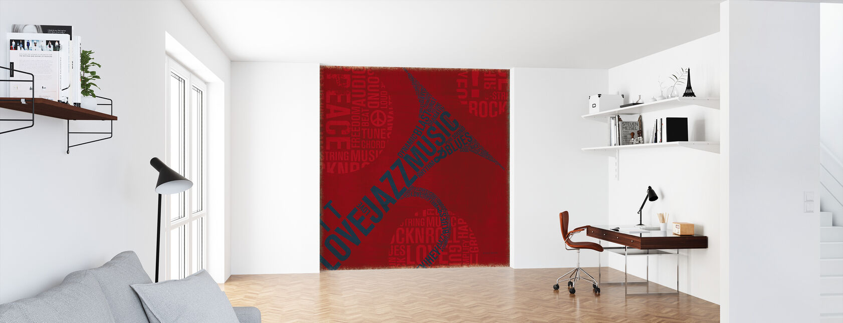Type Trumpet Square - Wallpaper - Office