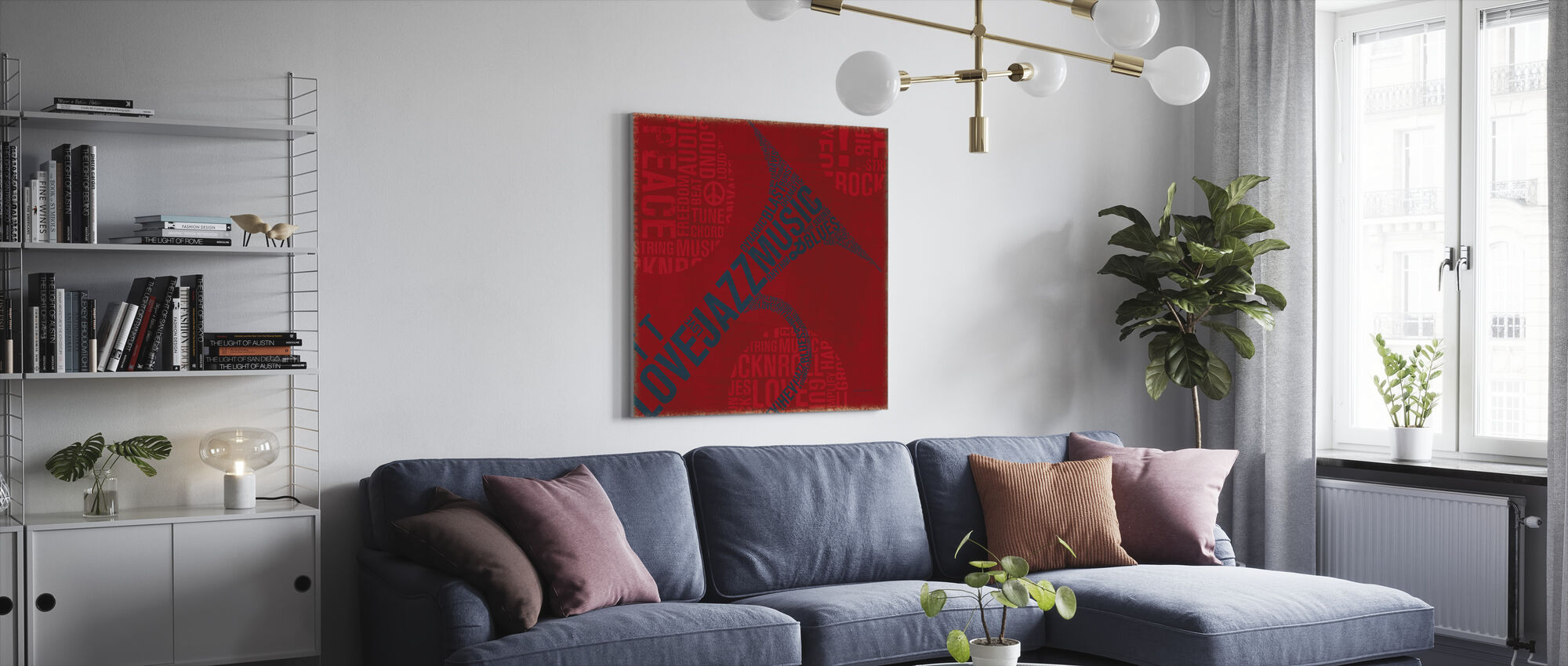 Type Trumpet Square - Canvas print - Living Room