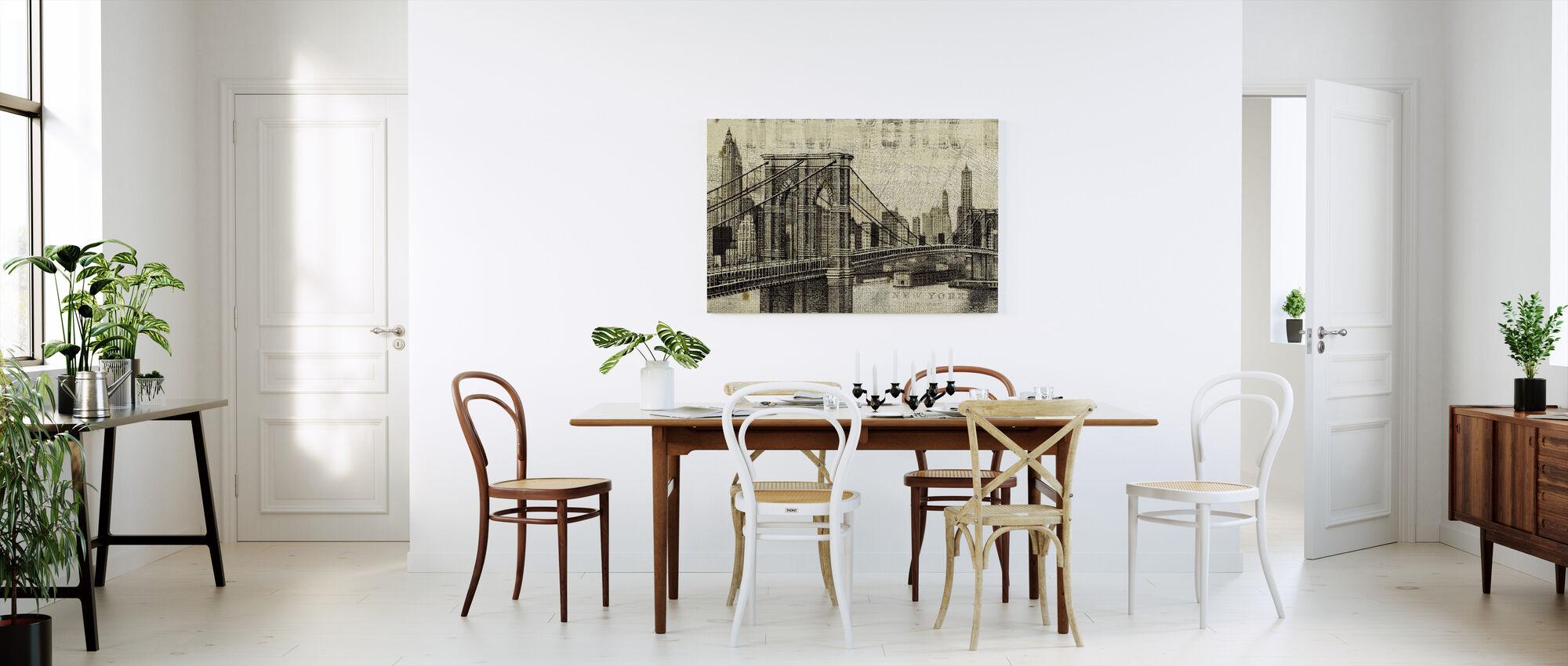 Pont de Brooklyn de New York - Impression sur toile - Cuisine