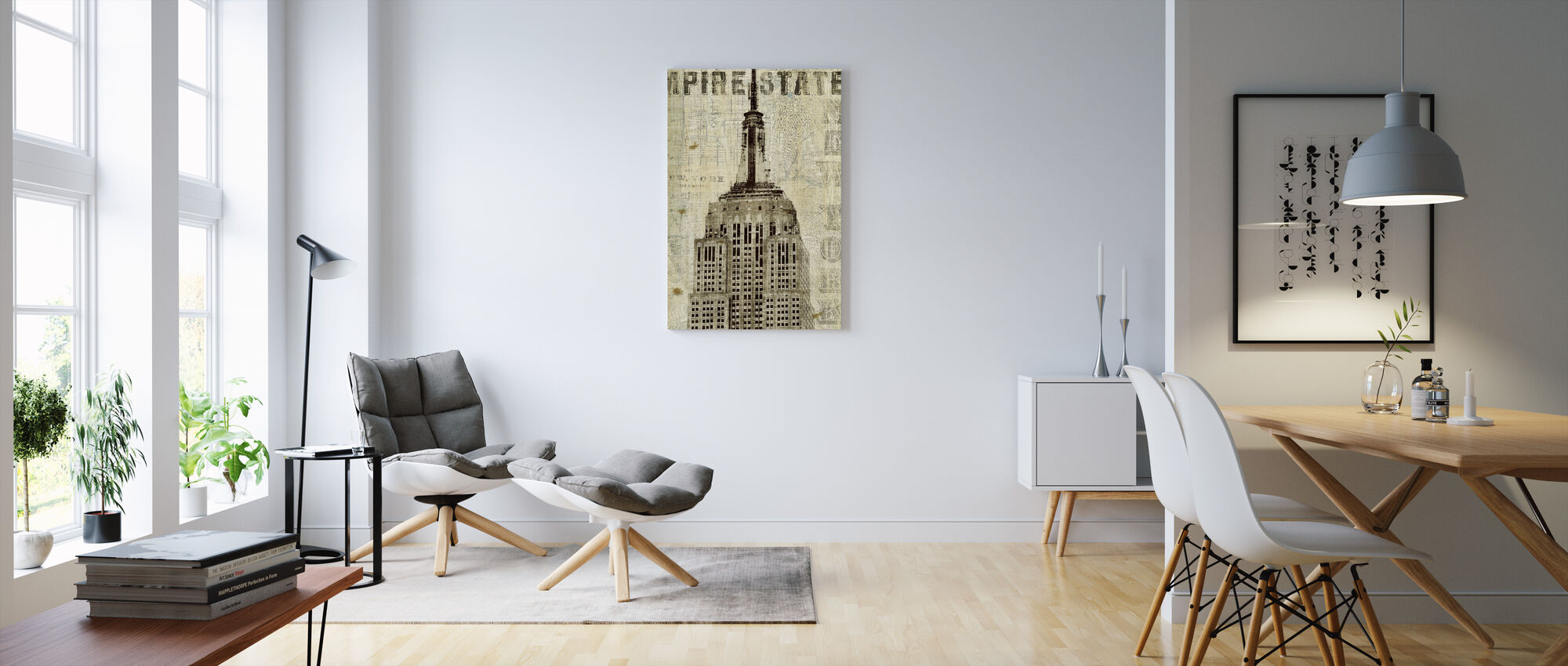 Vintage New York Empire State - Canvas print - Woonkamer