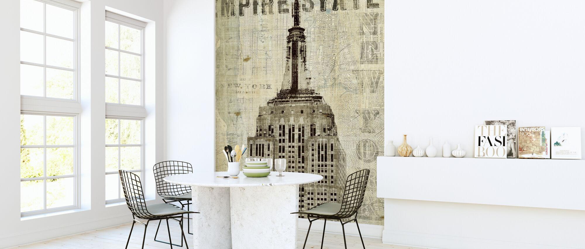 Vintage New York Empire State - Wallpaper - Kitchen