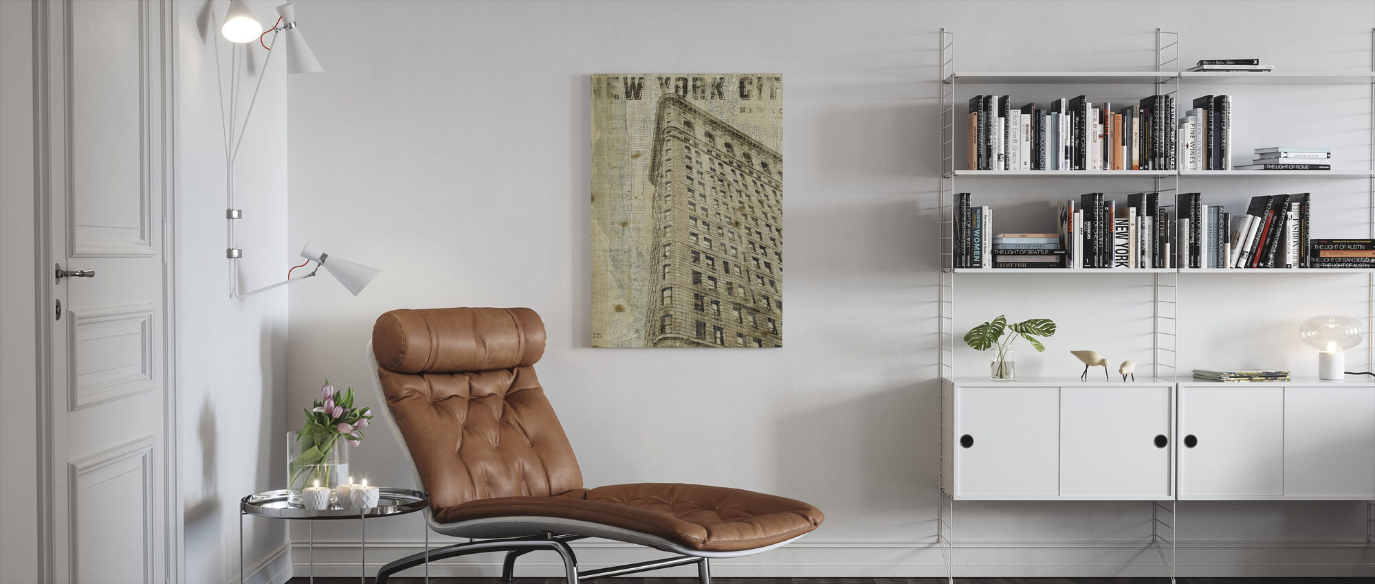 Vintage New York Flat Iron - Canvas print - Living Room