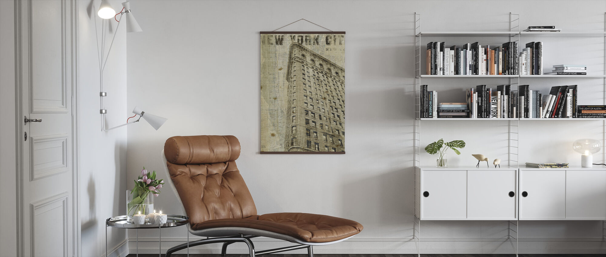 Vintage New York Flat Iron - Poster - Living Room