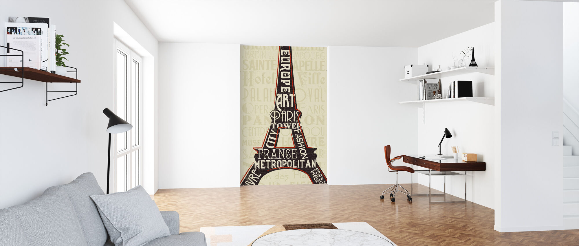 Paris City Words I - Wallpaper - Office