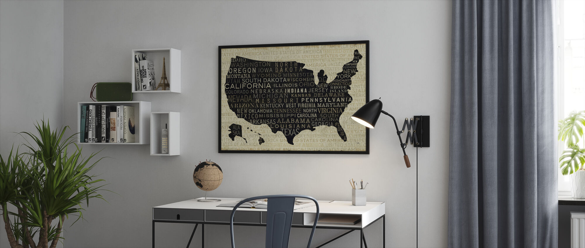 USA V - Framed print - Office