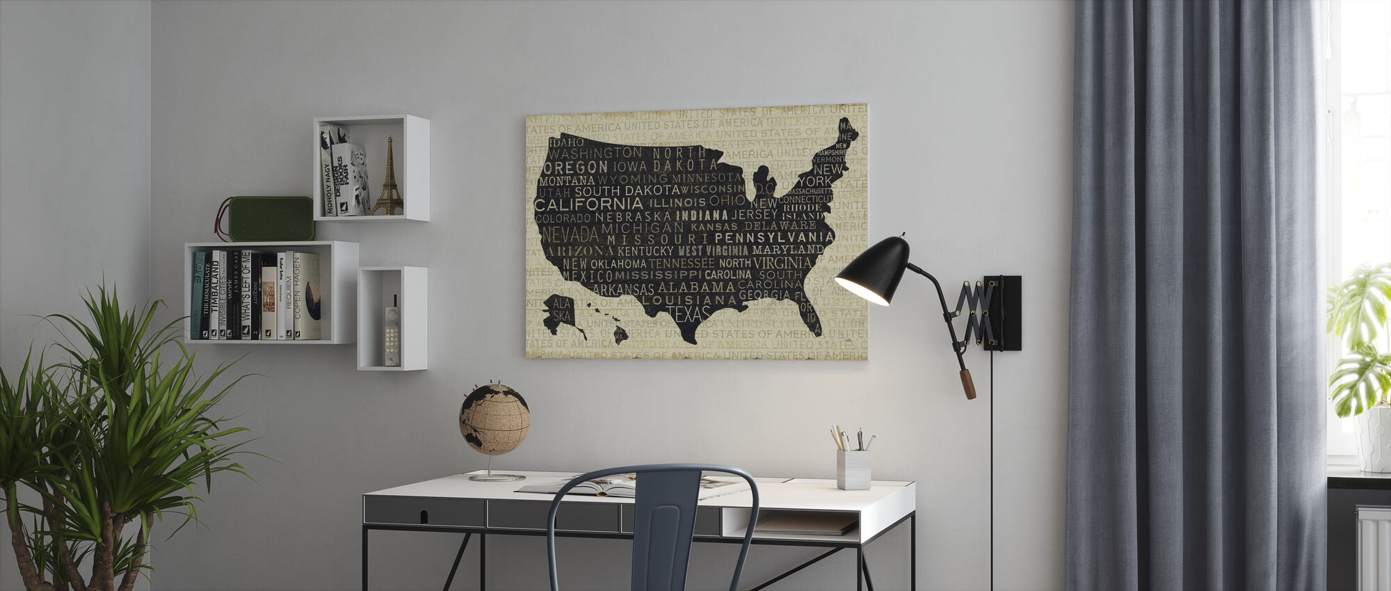 USA V - Lerretsbilde - Kontor