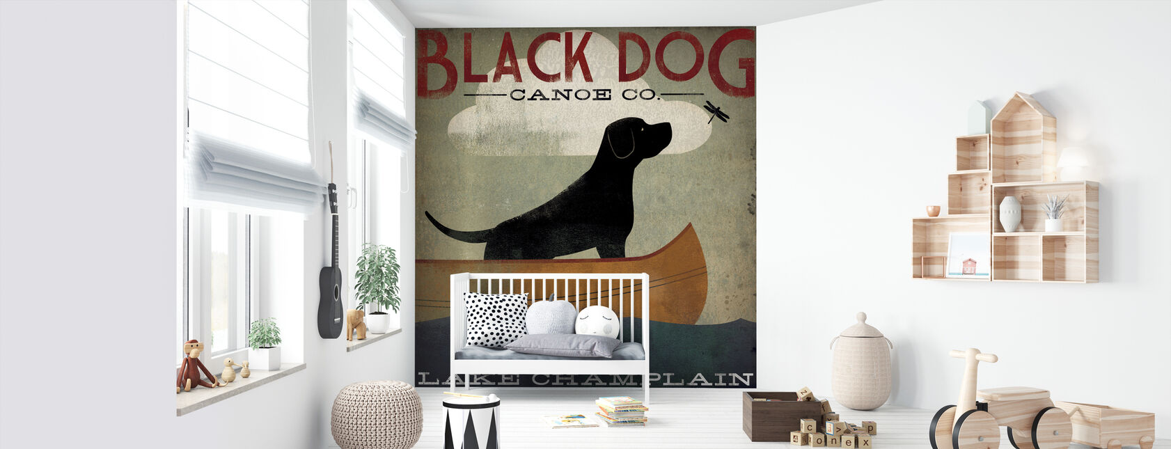 Black Dog Lake Champlain - Wallpaper - Nursery