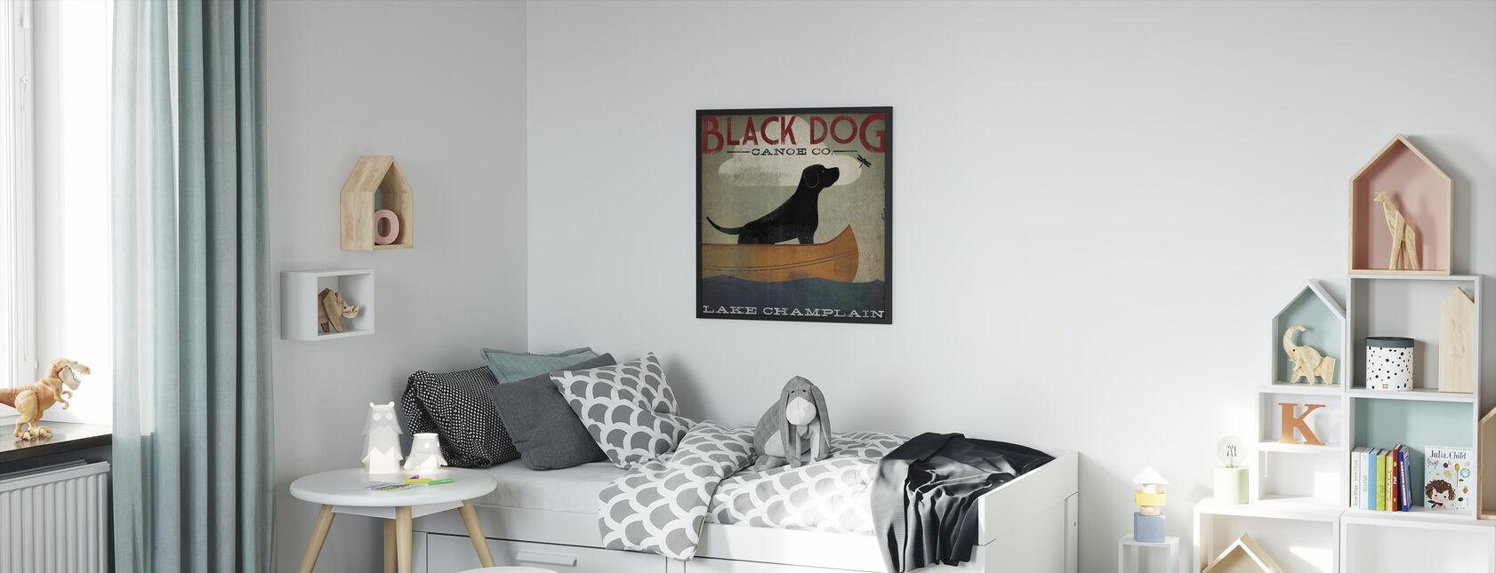 Black Dog Lake Champlain - Print enmarcado - Cuarto de niños