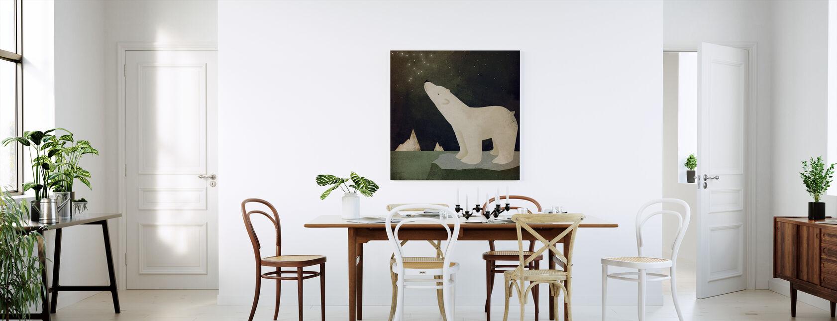 Konstellationer Isbjörn - Canvastavla - Kök