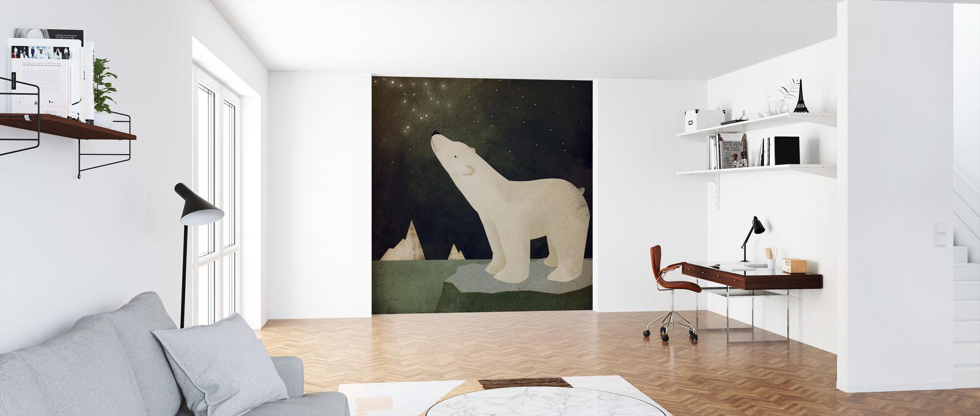 Konstelacje Niedźwiedź polarny - Tapeta - Biuro