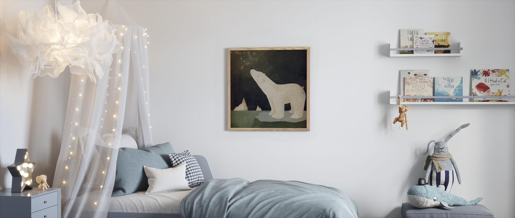 Constellations Polar Bear - Framed print - Kids Room
