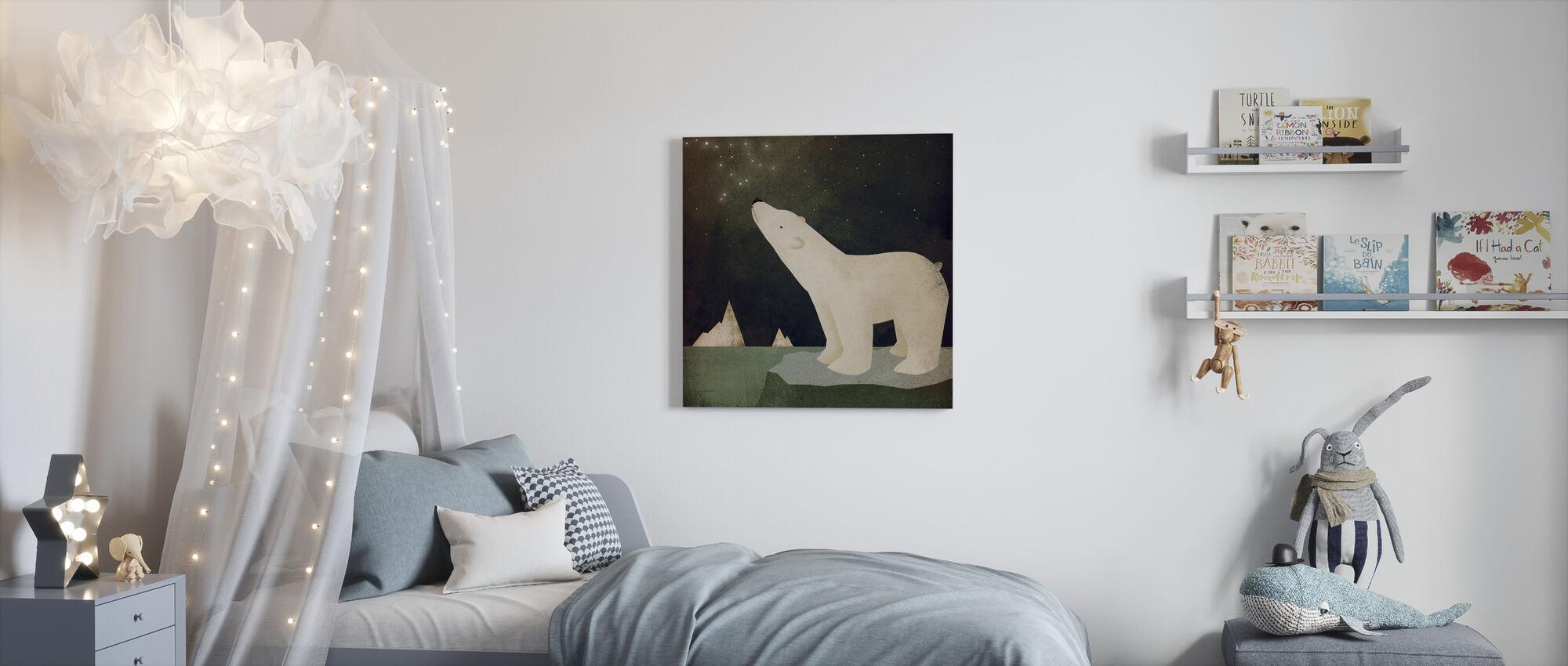 Konstellationer Isbjörn - Canvastavla - Barnrum
