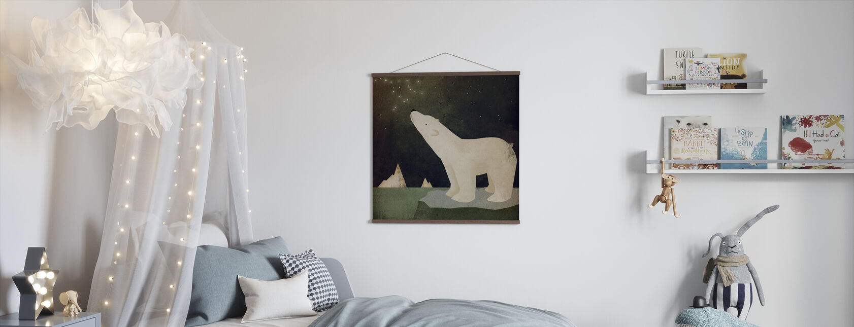 Constellations Polar Bear - Poster - Kids Room