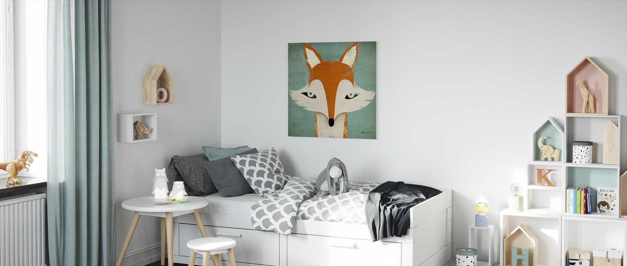 Fox - Canvastaulu - Lastenhuone