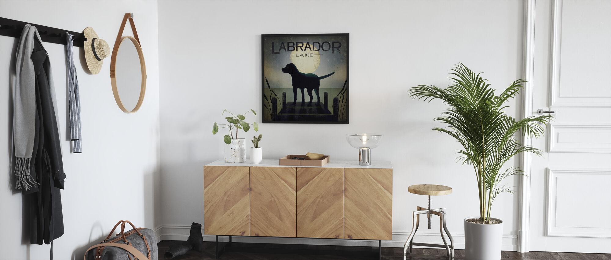 Moonrise Black Dog - Framed print - Hallway