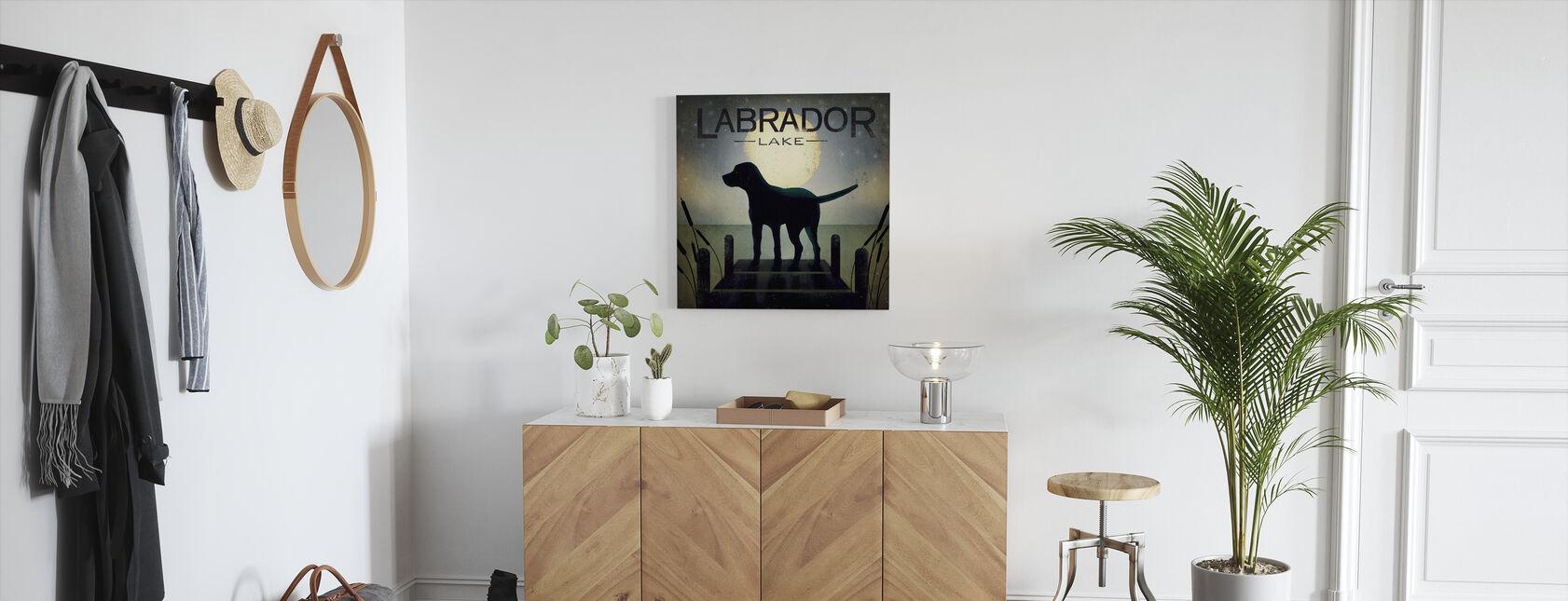 Moonrise Black Dog - Canvas print - Hallway