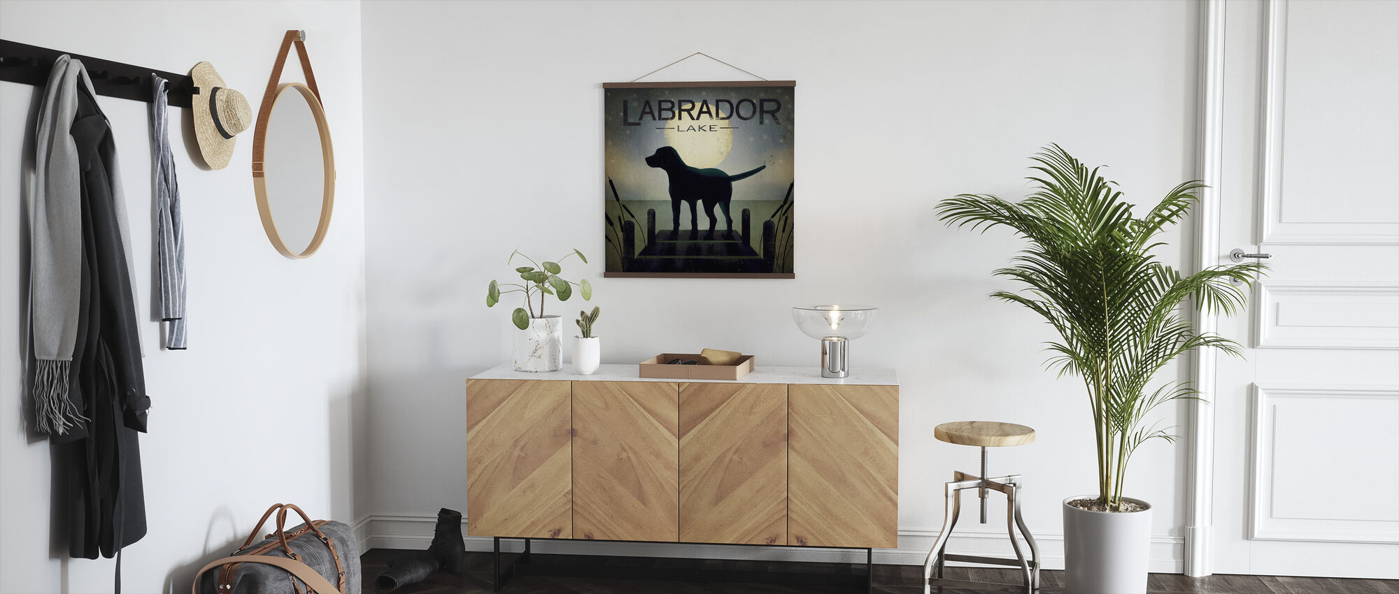 Moonrise Black Dog - Poster - Hallway
