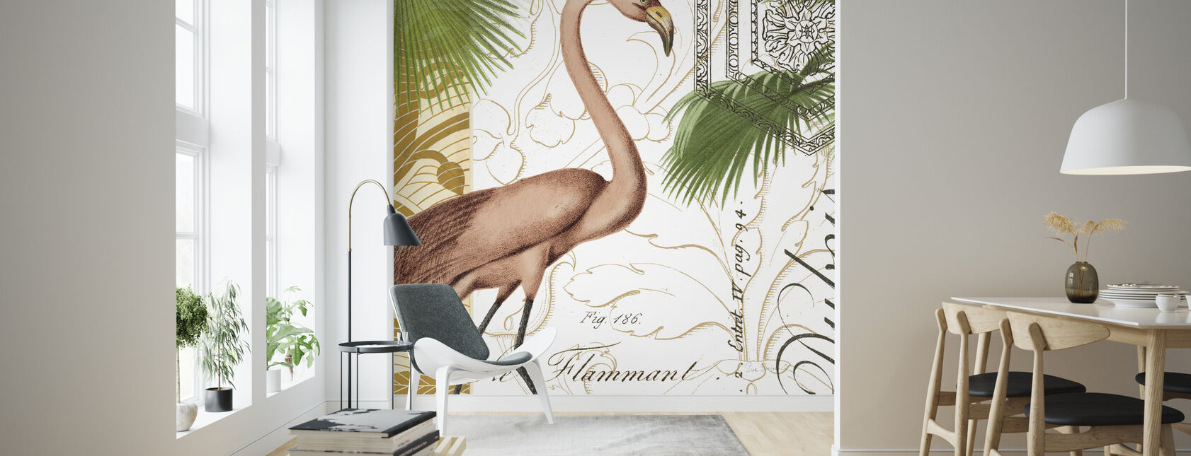 Flamingo Curiosity - Wallpaper - Living Room