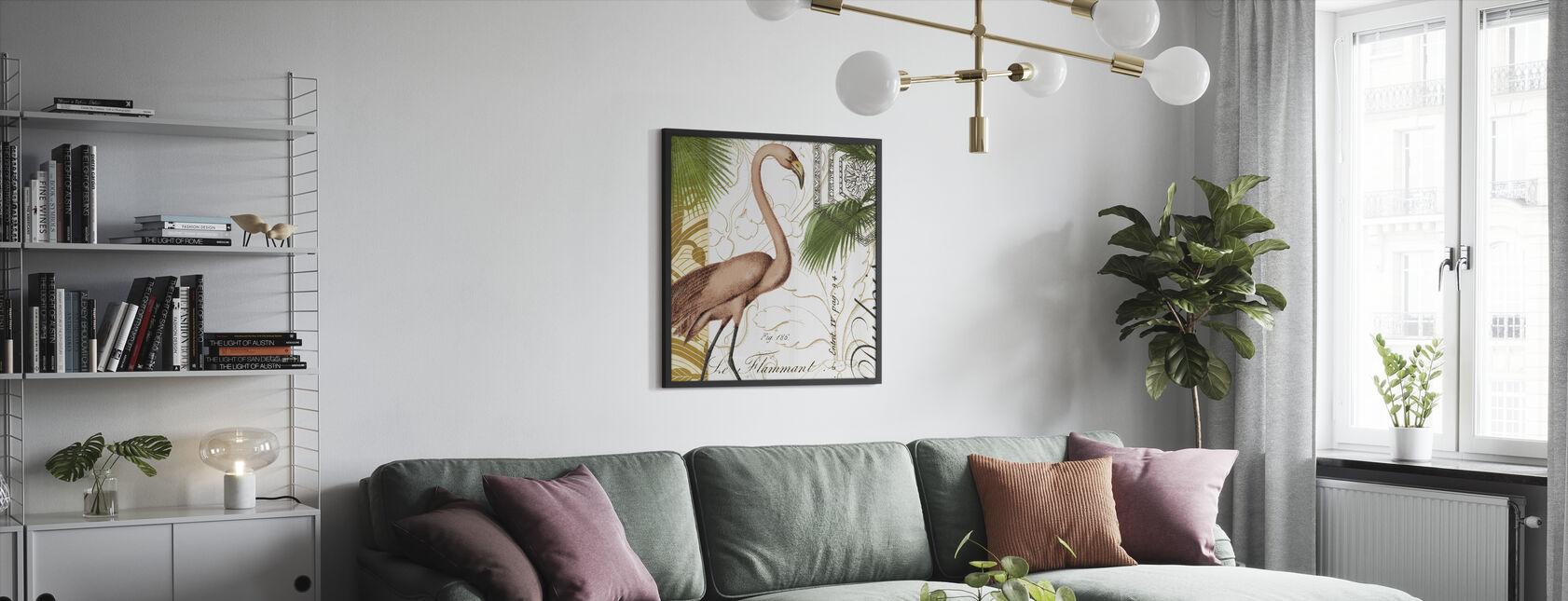 Flamingo nysgjerrighet - Innrammet bilde - Stue