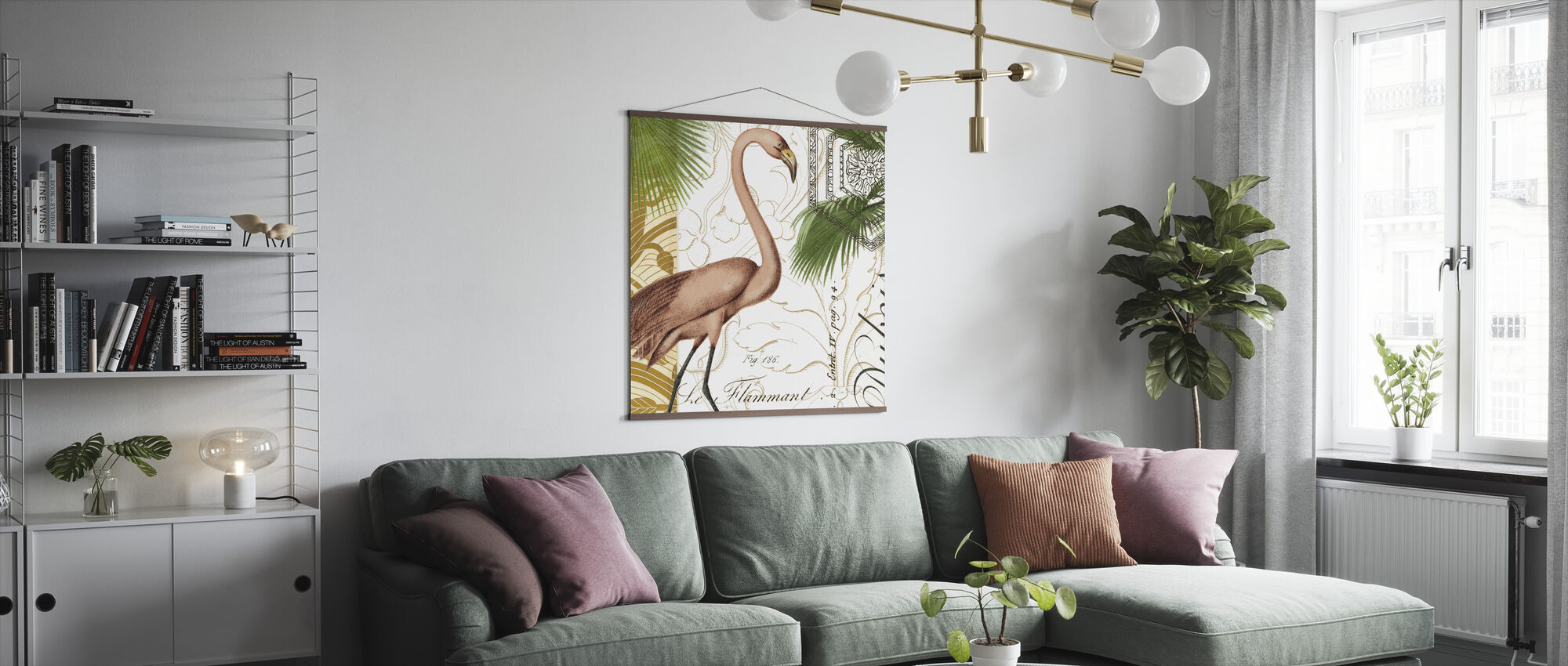 Flamingo Curiosity - Poster - Living Room