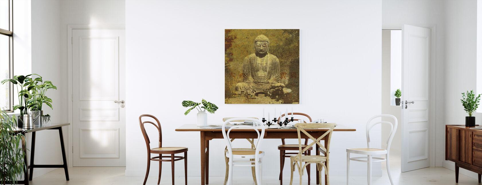asiatiske Buddha - Billede på lærred - Køkken