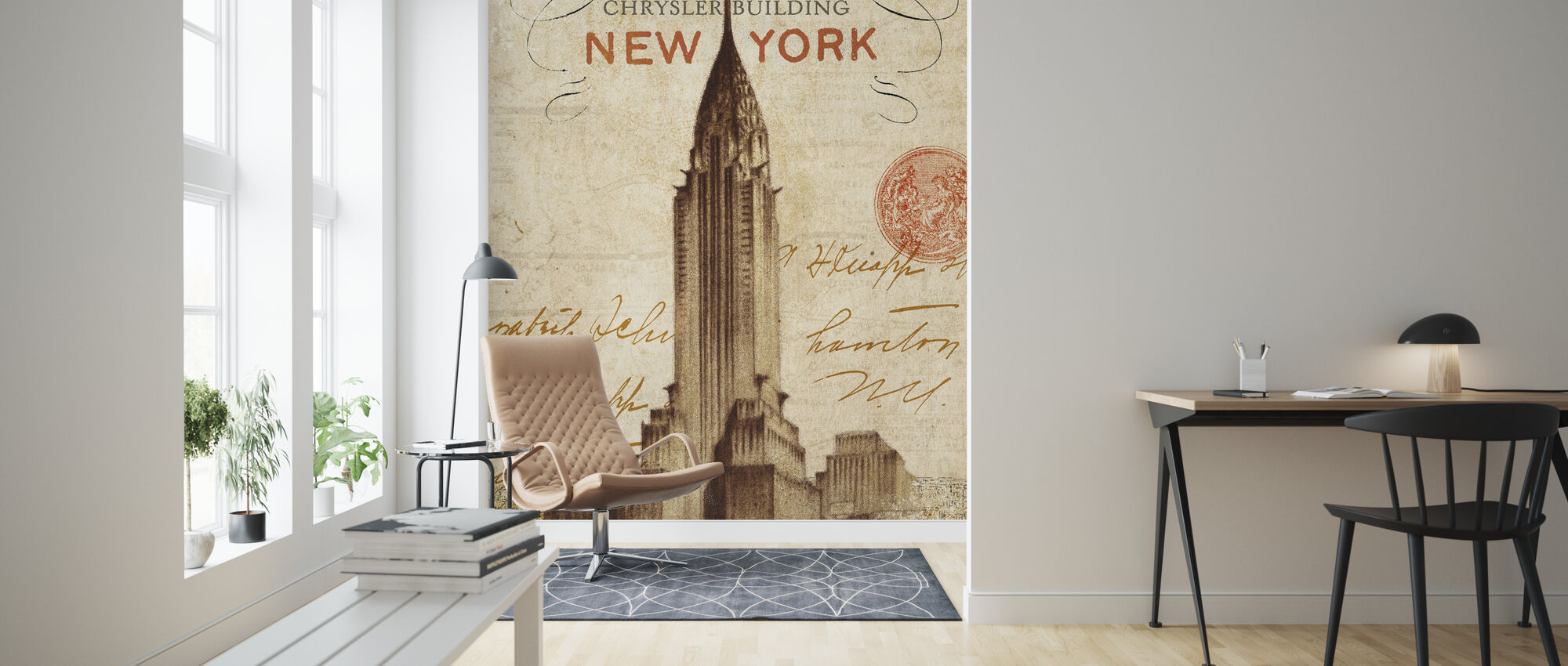 Letter from New York - Wallpaper - Living Room