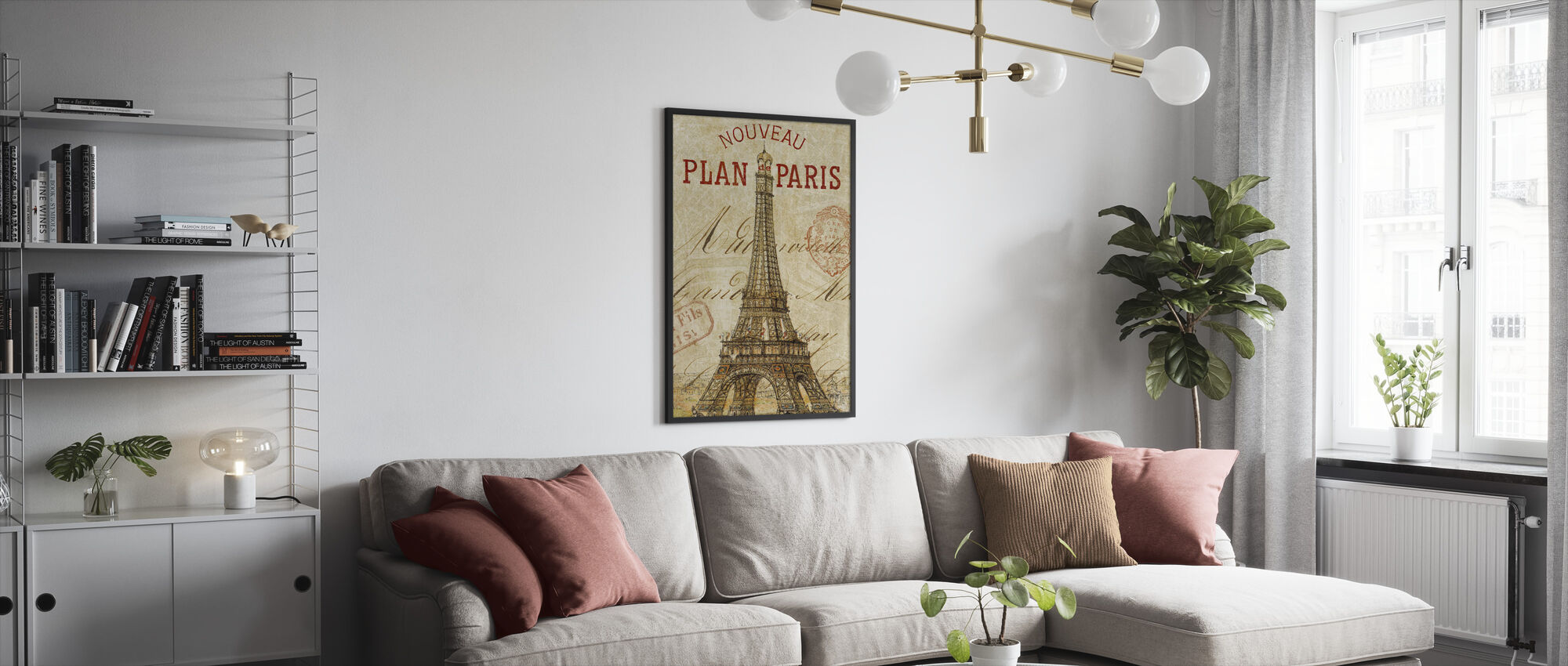 Letter from Paris - Framed print - Living Room