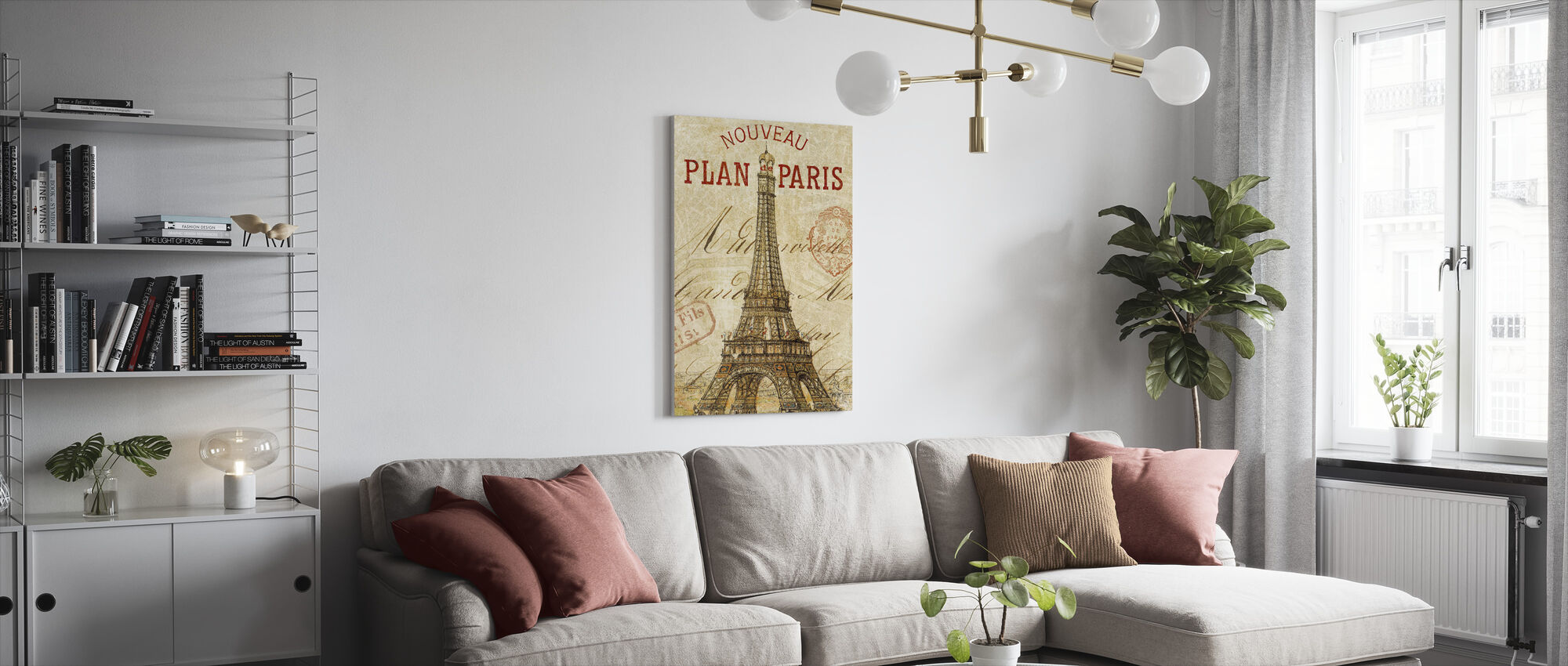 Letter from Paris - Canvas print - Living Room
