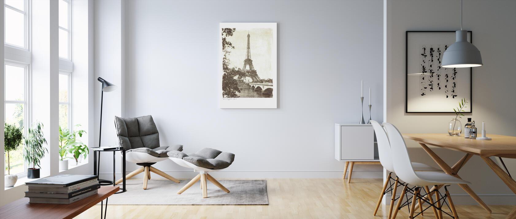 vintage eiffel tower leinwandbilder f r jedes ambiente. Black Bedroom Furniture Sets. Home Design Ideas