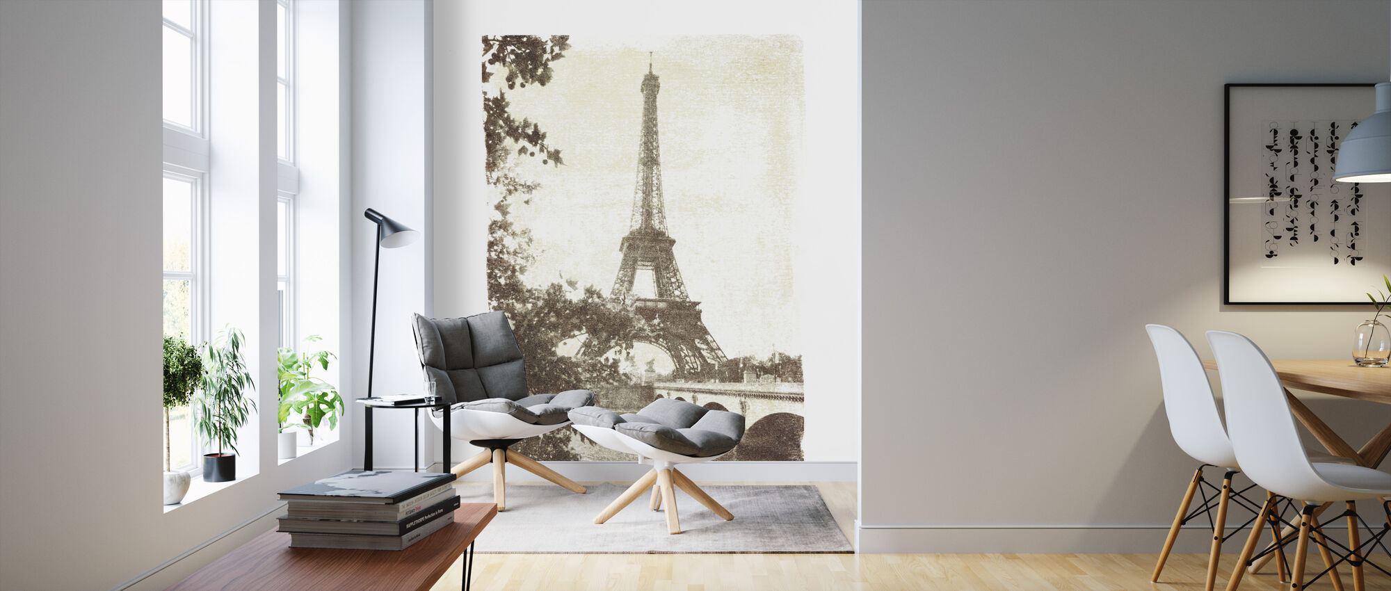 Vintage Eiffel Tower - Wallpaper - Living Room
