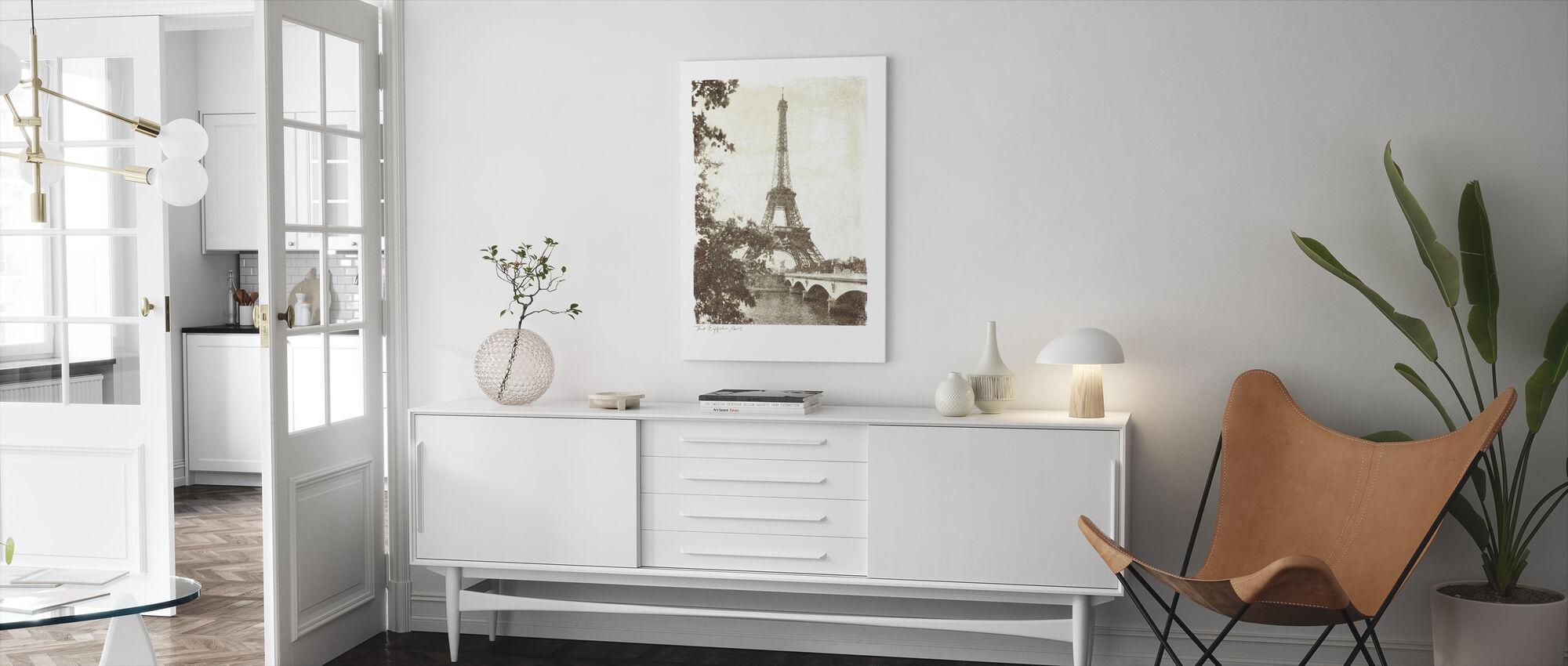 Vintage Eiffeltårnet - Lerretsbilde - Stue