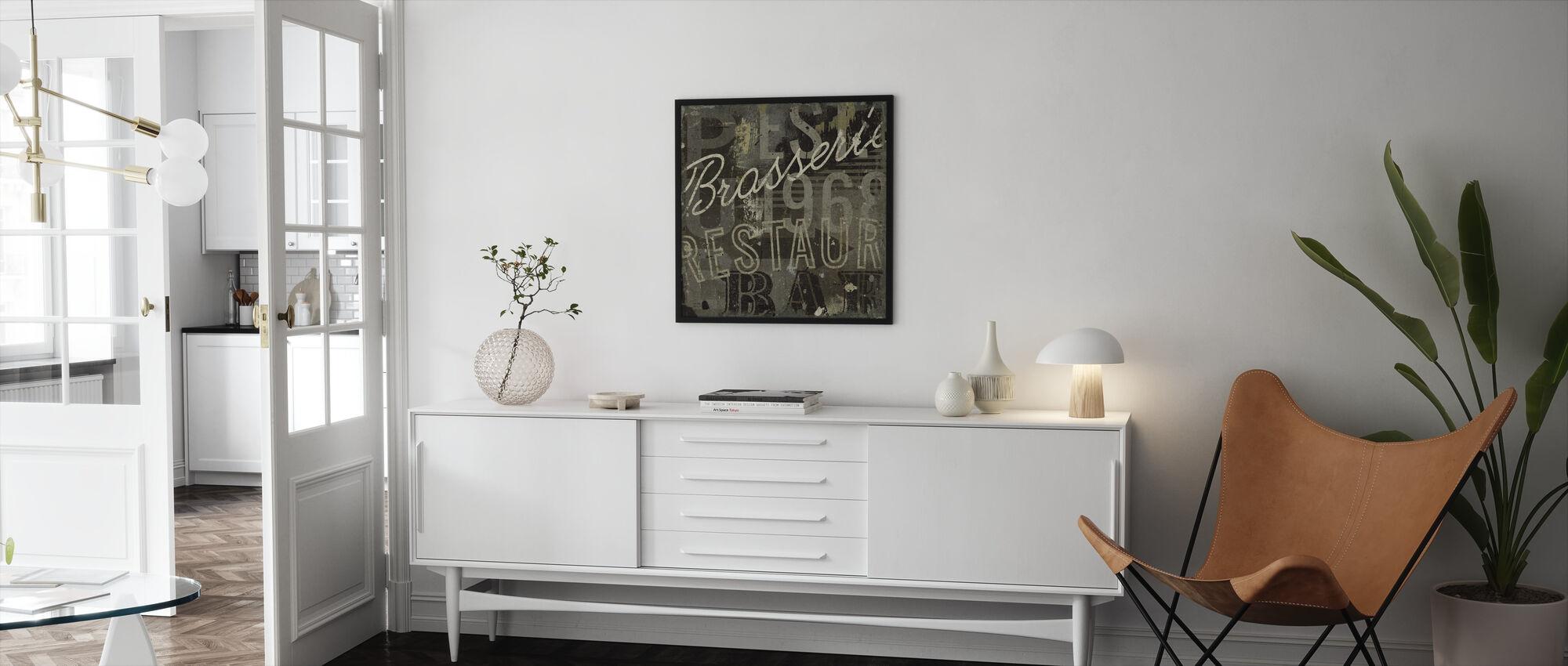 Restaurant Sign I - Framed print - Living Room