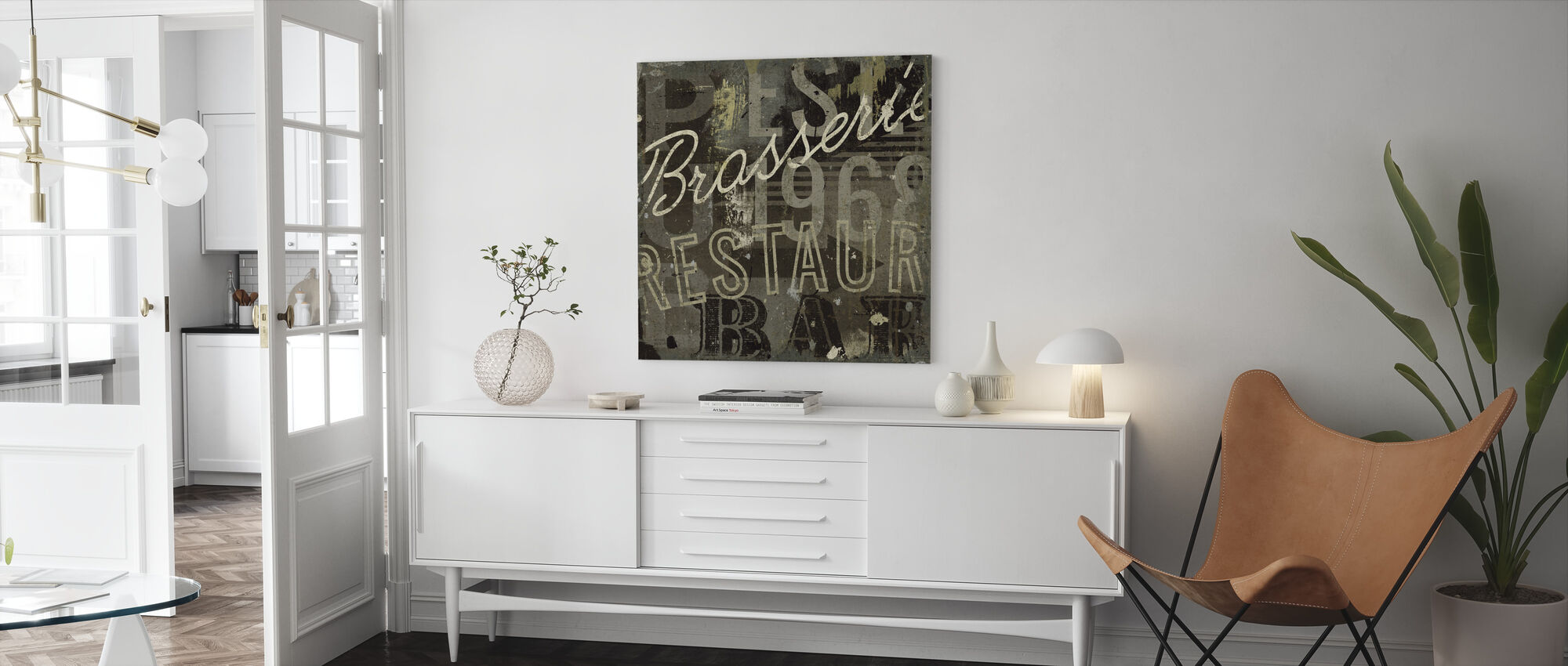 Restaurant Sign I - Canvas print - Living Room